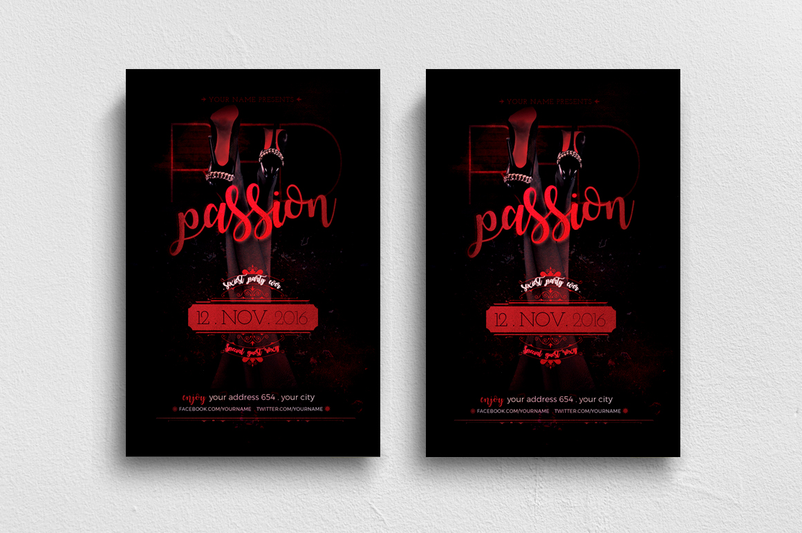 Red Passion Flyer Template example image 1