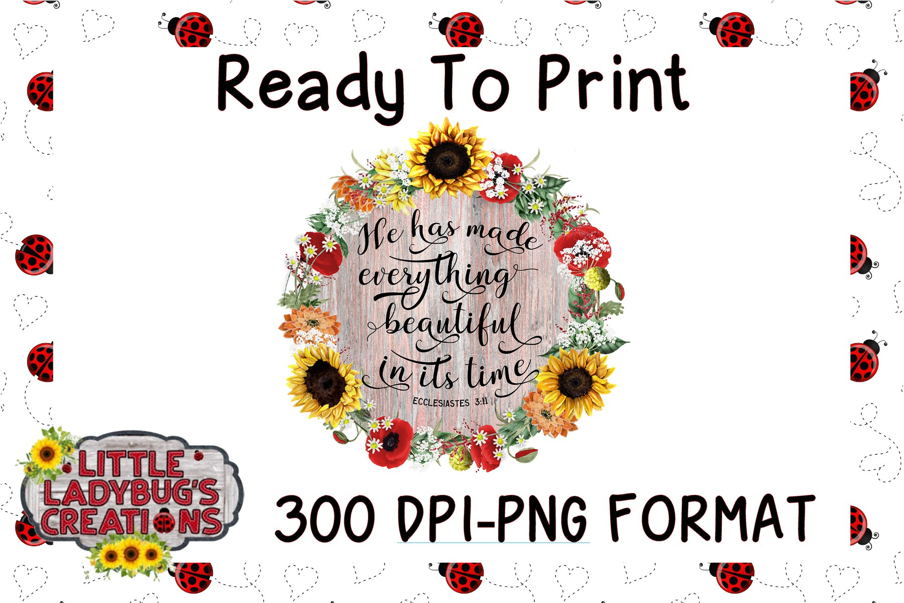 In Its Time 300 DPI PNG Printable Digital Design example image 1