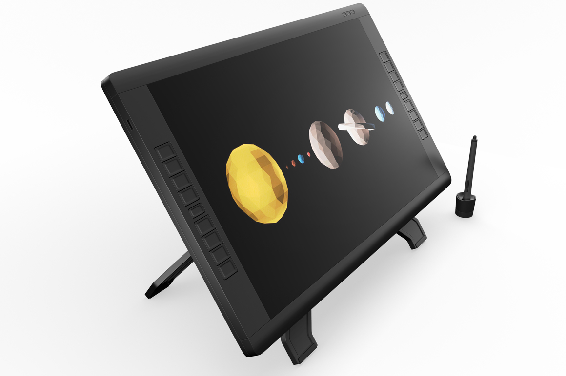 Wacom Graphic Screen Tablet Mockup example image 6