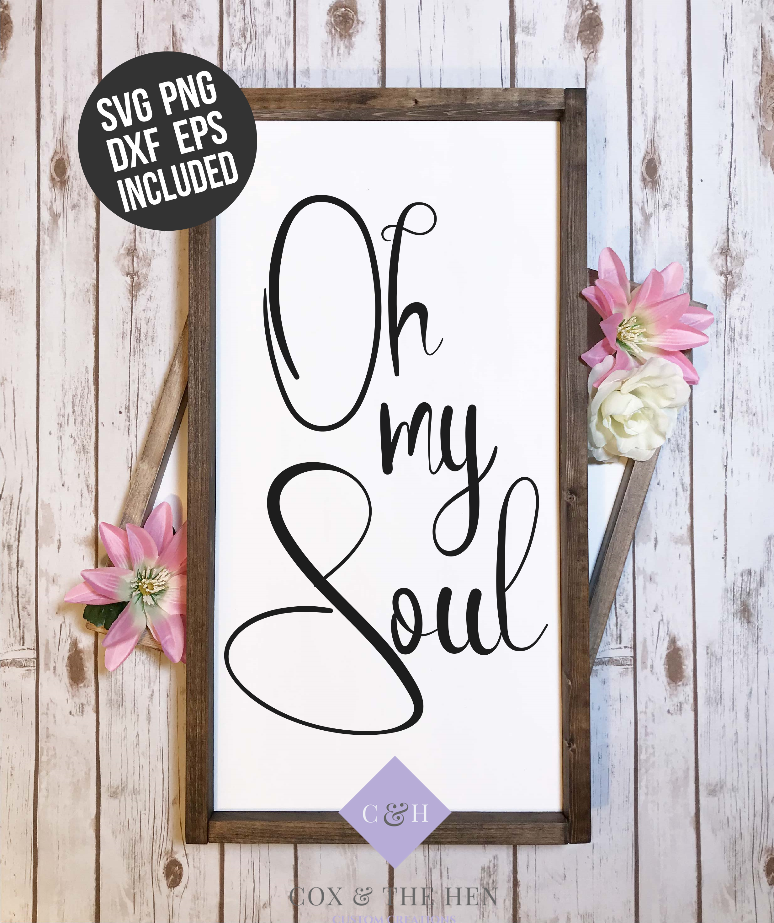 Oh My Soul Forest Wood Sign Stencil SVG example image 3