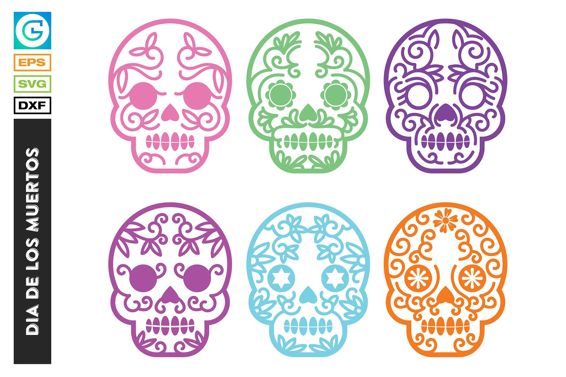 36 Dia de los muertos SVG, Day of the dead, sugar skull example image 2