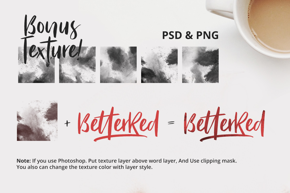 Bitter Rose - Brush Font (+TEXTURES) example image 5