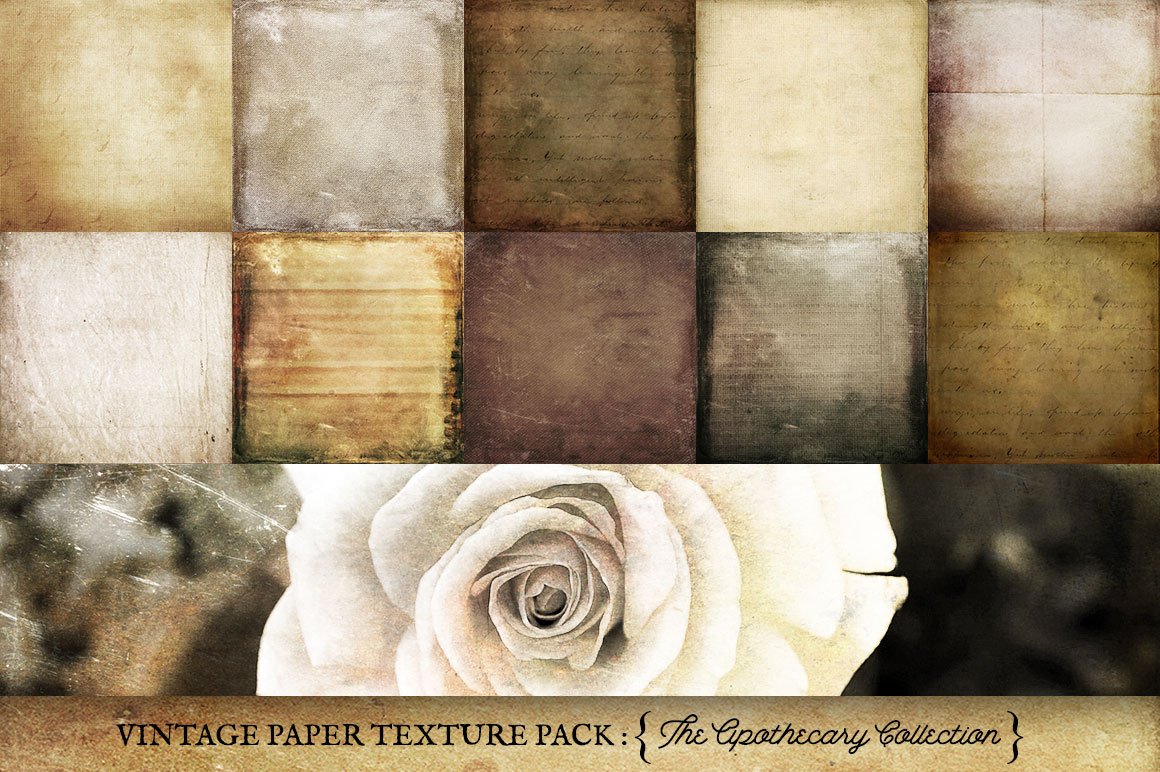 Vintage Paper Textures Apothecary Collection example image 4