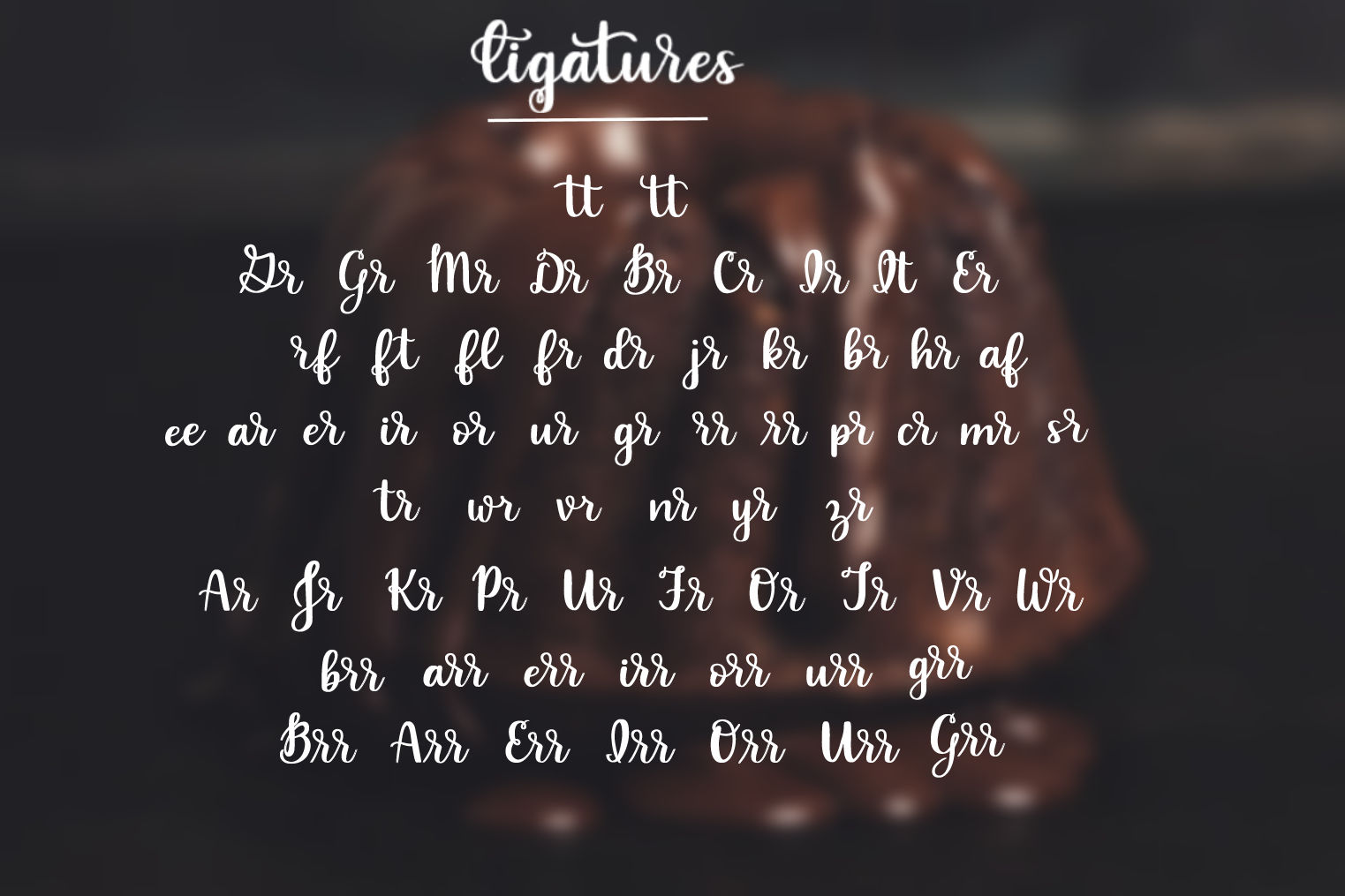 Indulgence - A handlettered script font example image 4