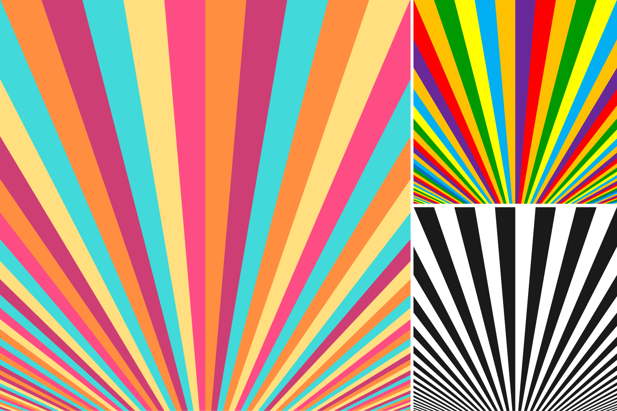 Collection of striped backgrounds. example image 7
