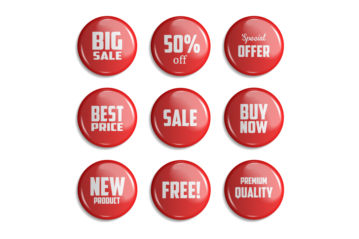 Sale Badges. 3 Colors example image 4