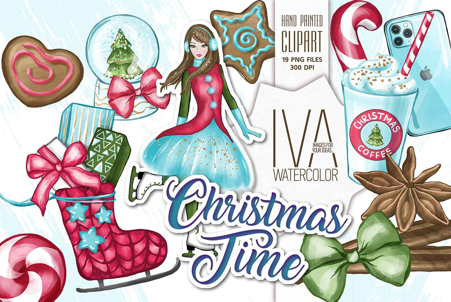 Christmas Clipart, Christmas Scrapbook example image 1