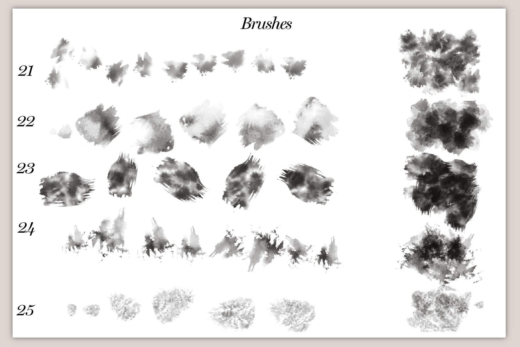 40 Artistic Painting Brushes for Procreate example image 7