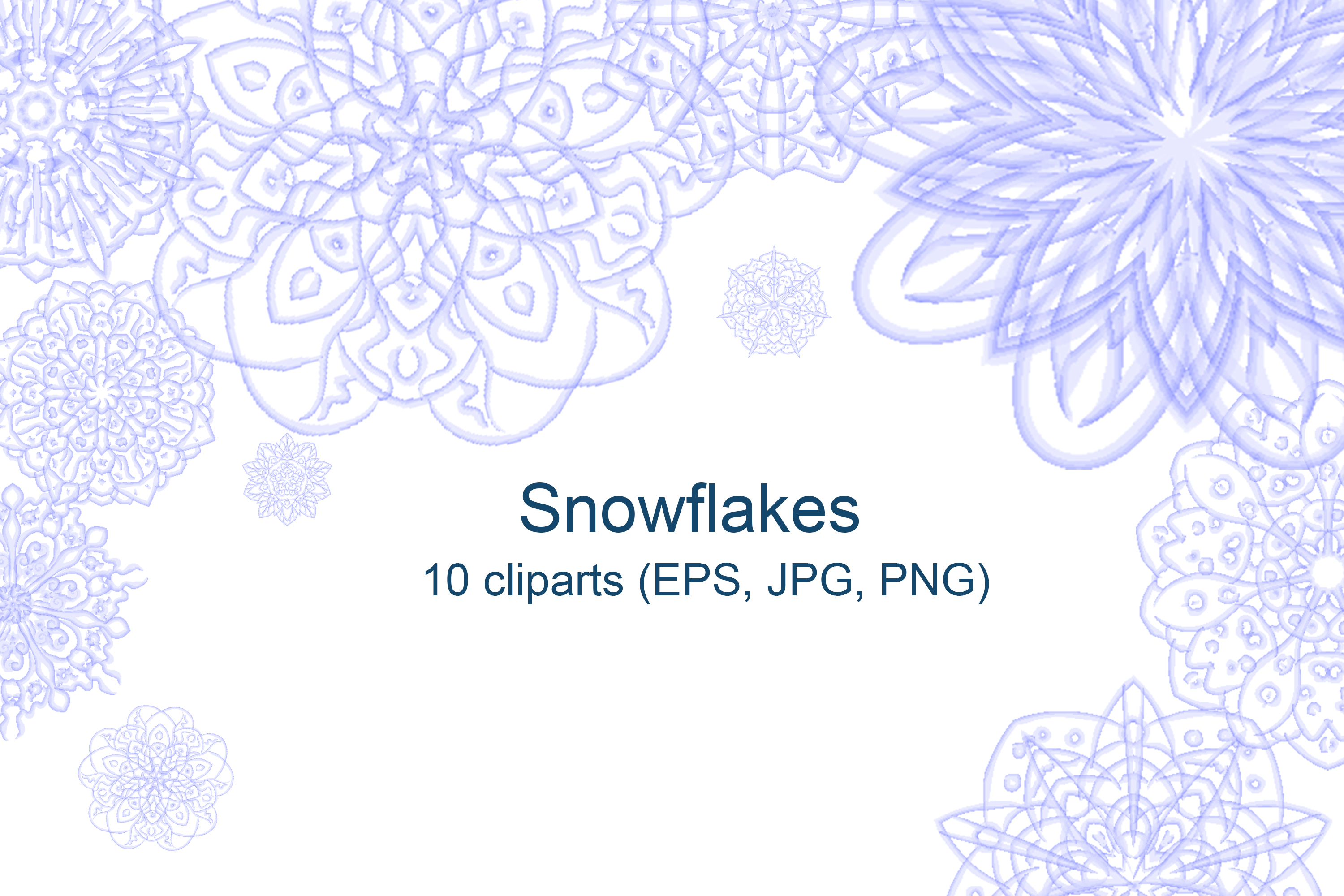Snowflakes. Vector illustration example image 1