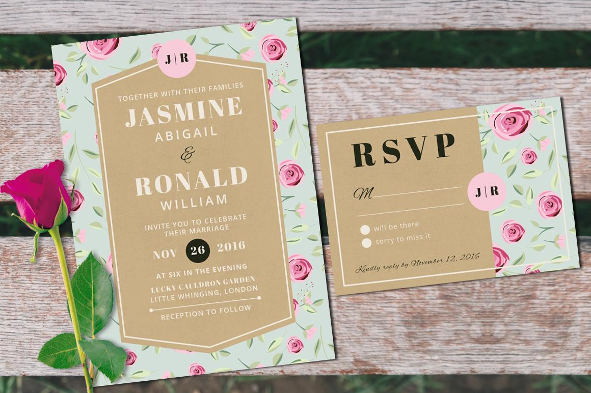 Vintage Wedding Invitation Suite example image 4