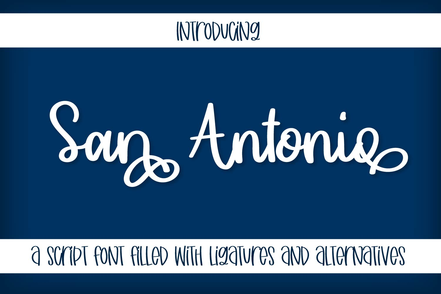 San Antonio - A Thick Clean Cut Friendly Script! example image 1