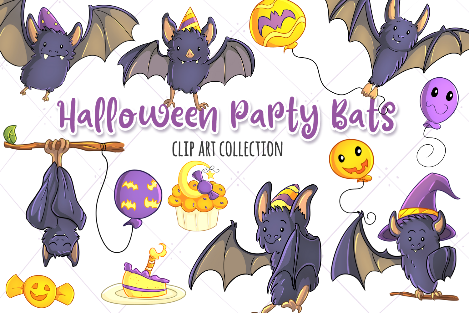 Halloween Graphics Bundle! Zombies, Bats, Ghosts and more! example image 2