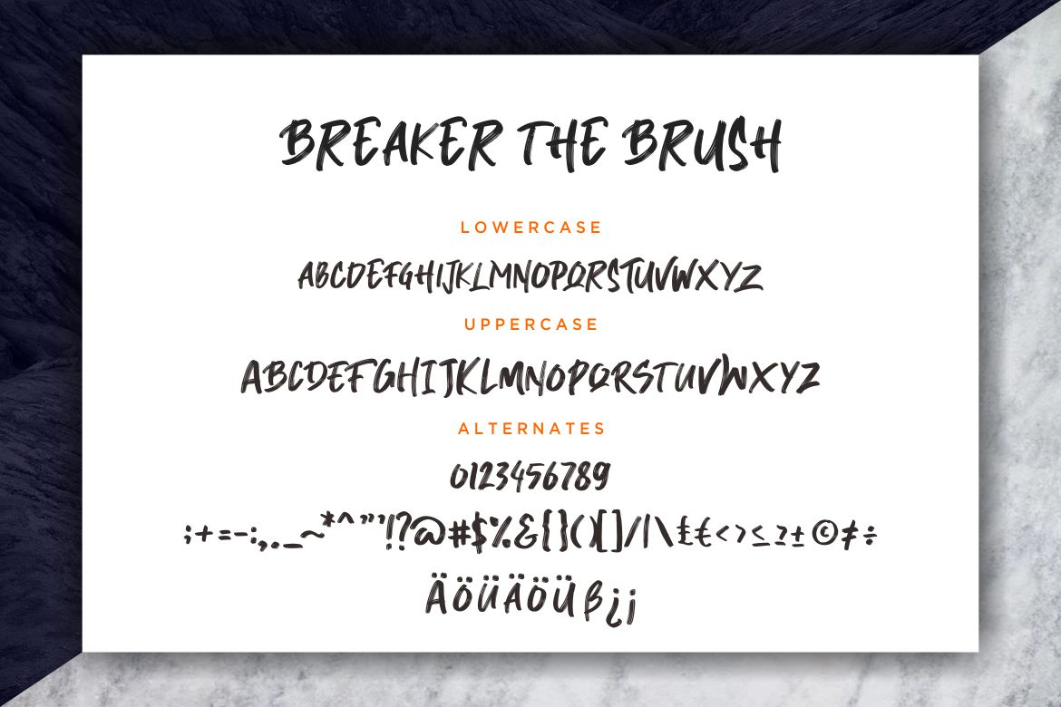 Breaker The Brush Typeface example image 7