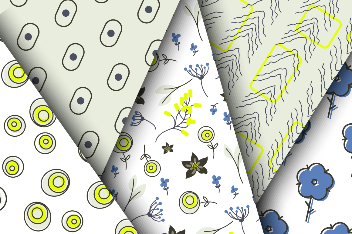 Blue Meadow Floral Patterns example image 3