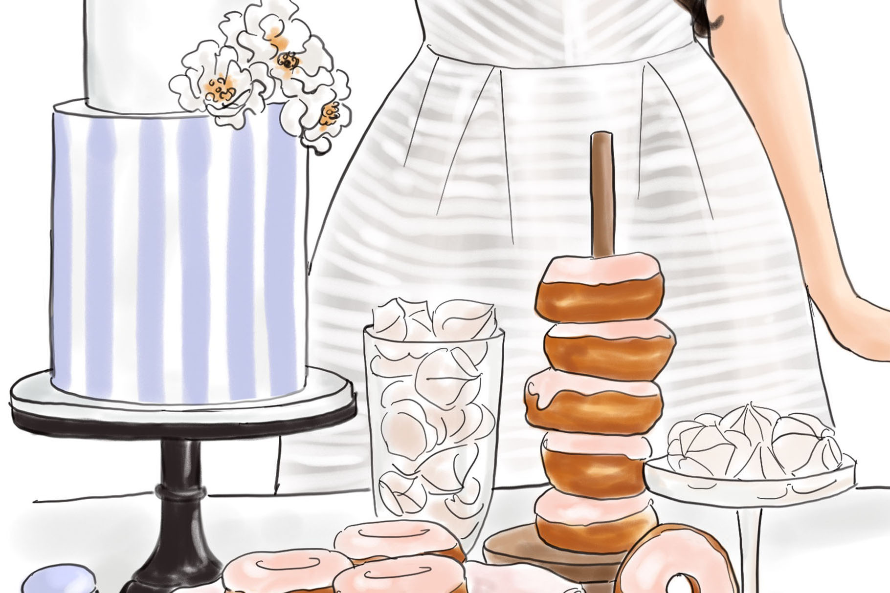 Fashion illustration - Baker Girl - Light Skin example image 3