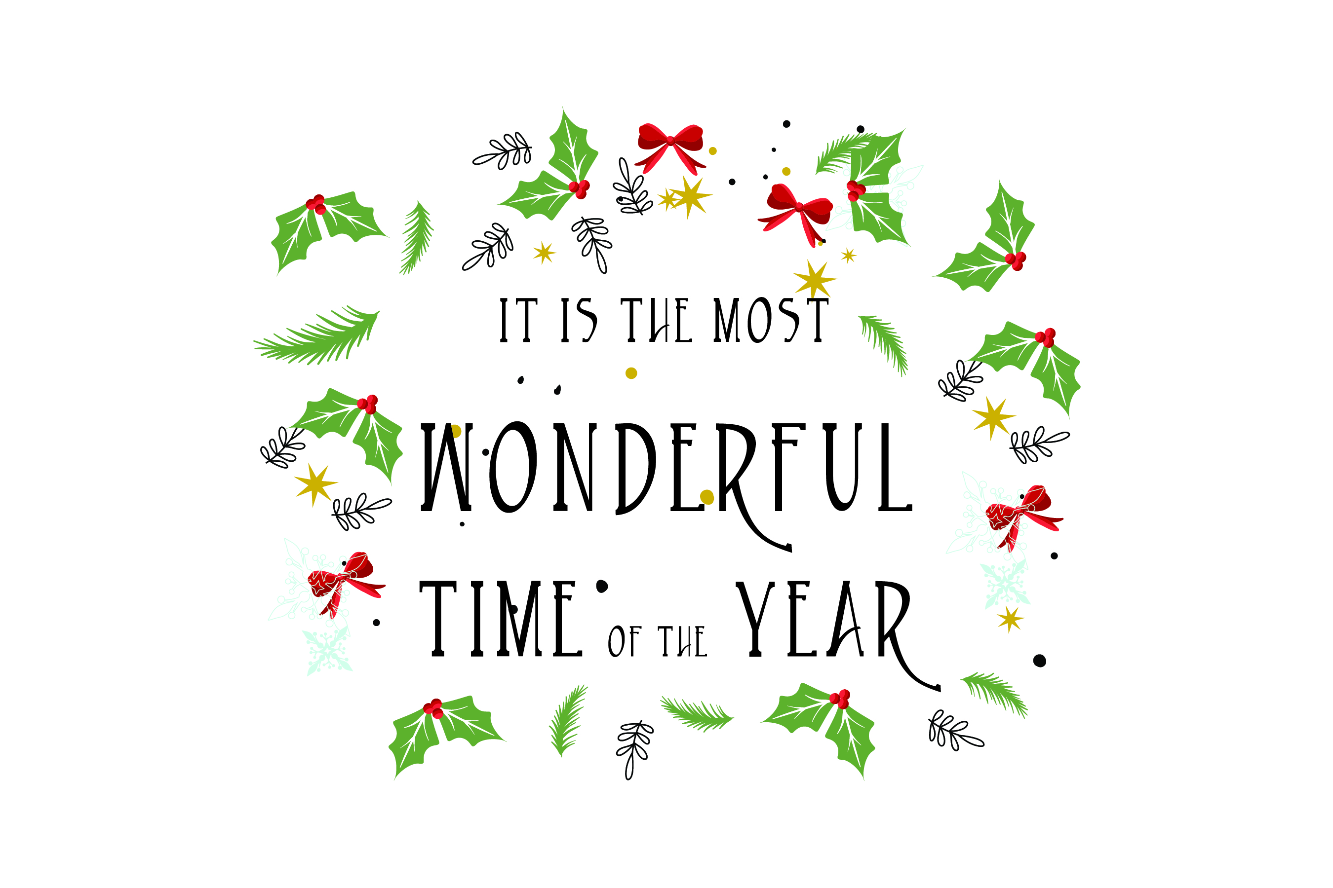 Wonderful time of the year - SVG Bundle 16 Designs example image 2