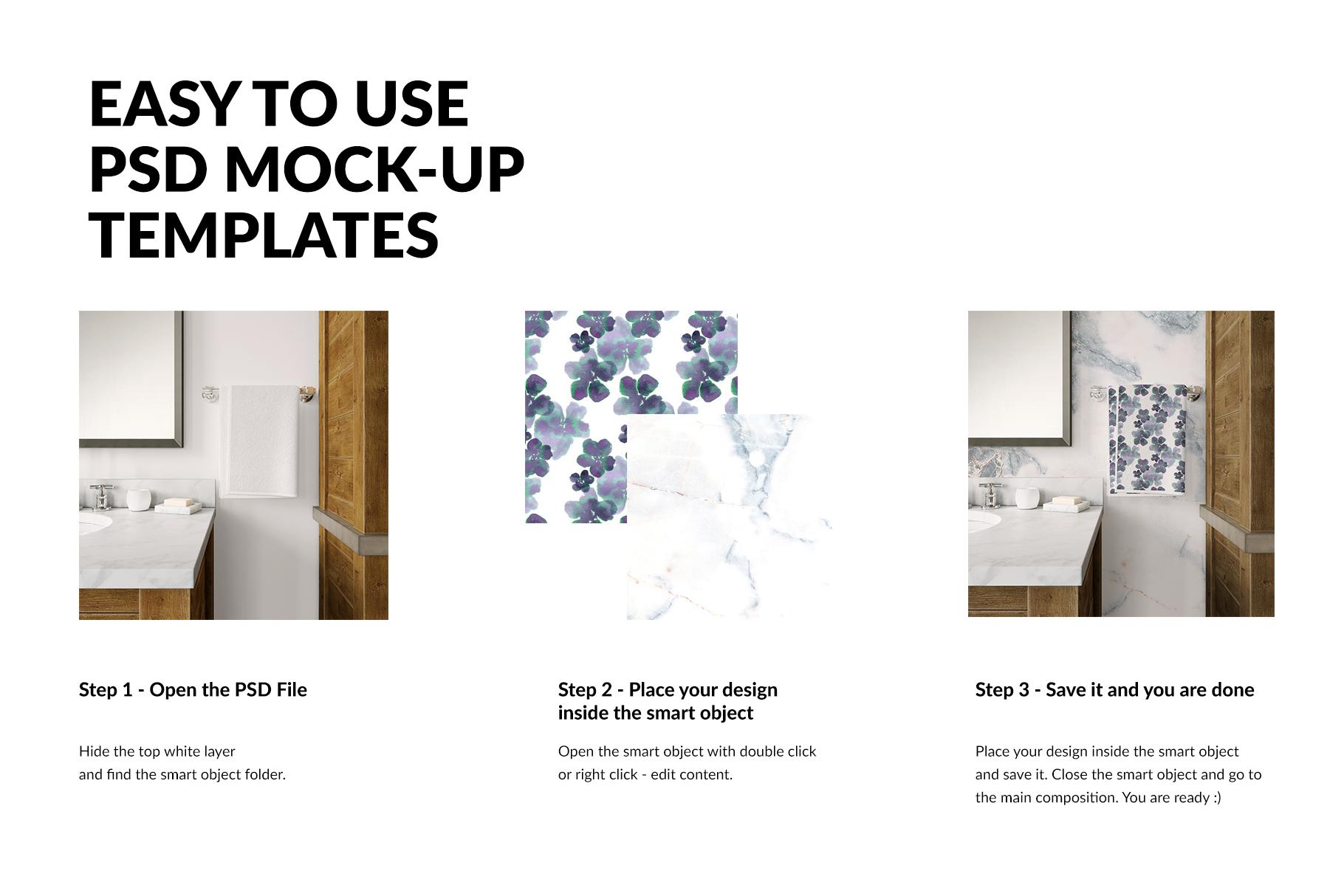 Bath Towels Mockup Set example image 3
