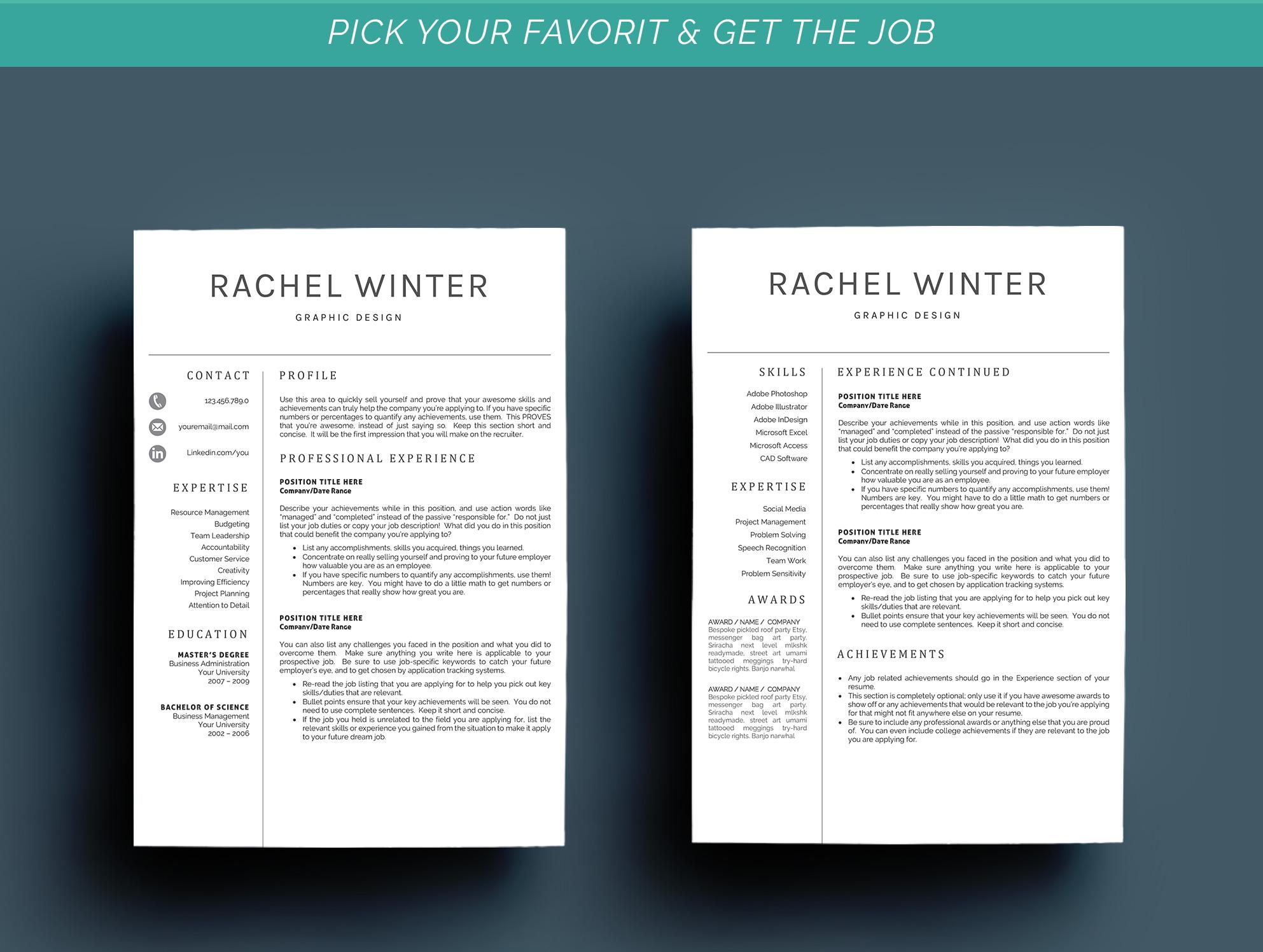 Creative Resume Template example image 4