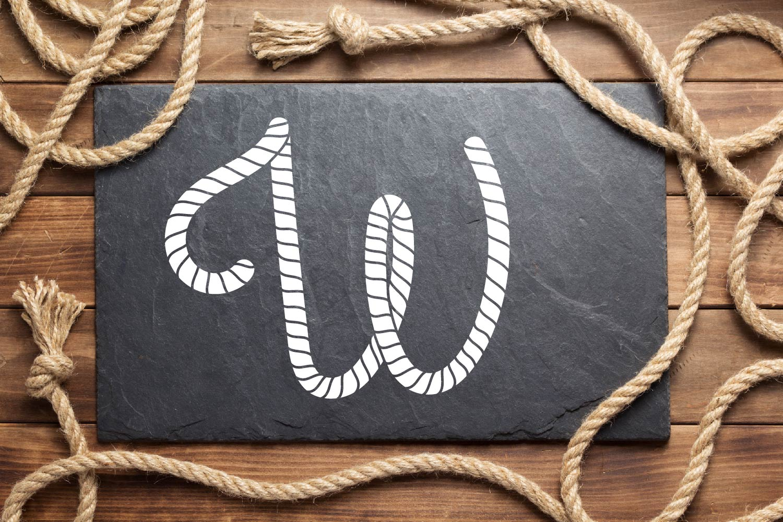 Rope Monogram - A Monogram Letter Trio! example image 4