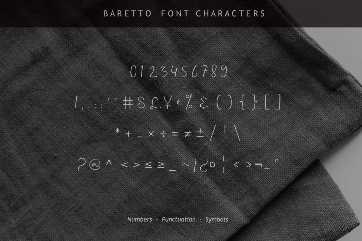 Baretto Font example image 11
