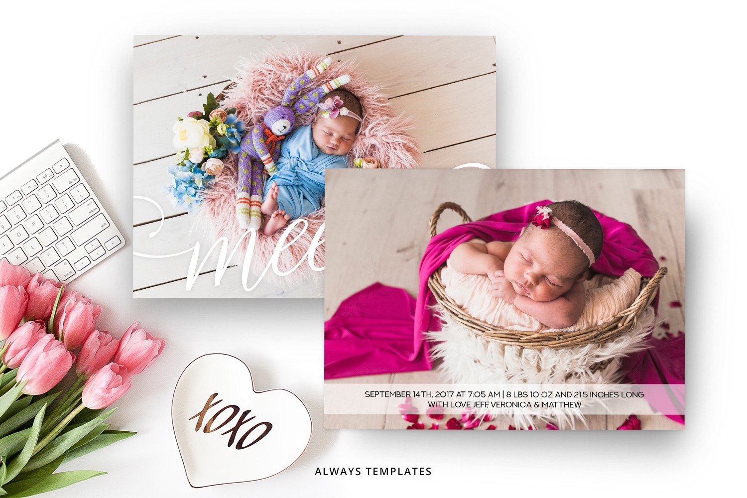 Birth Announcement Template BA004 example image 2