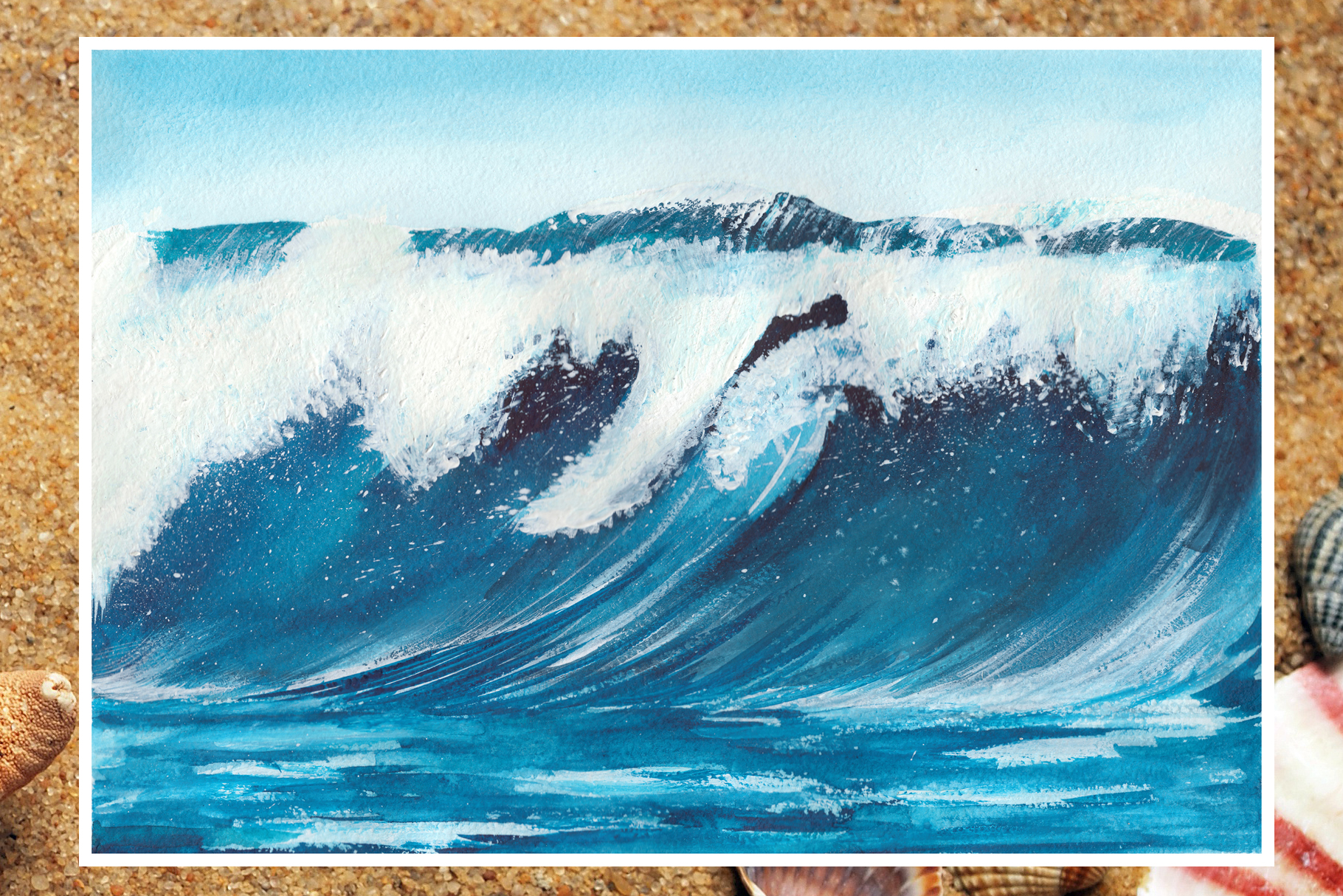 Watercolor seascapes example image 8