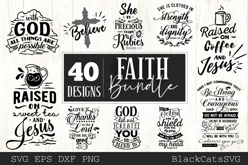Faith SVG bundle 40 designs Christian SVG bundle example image 3