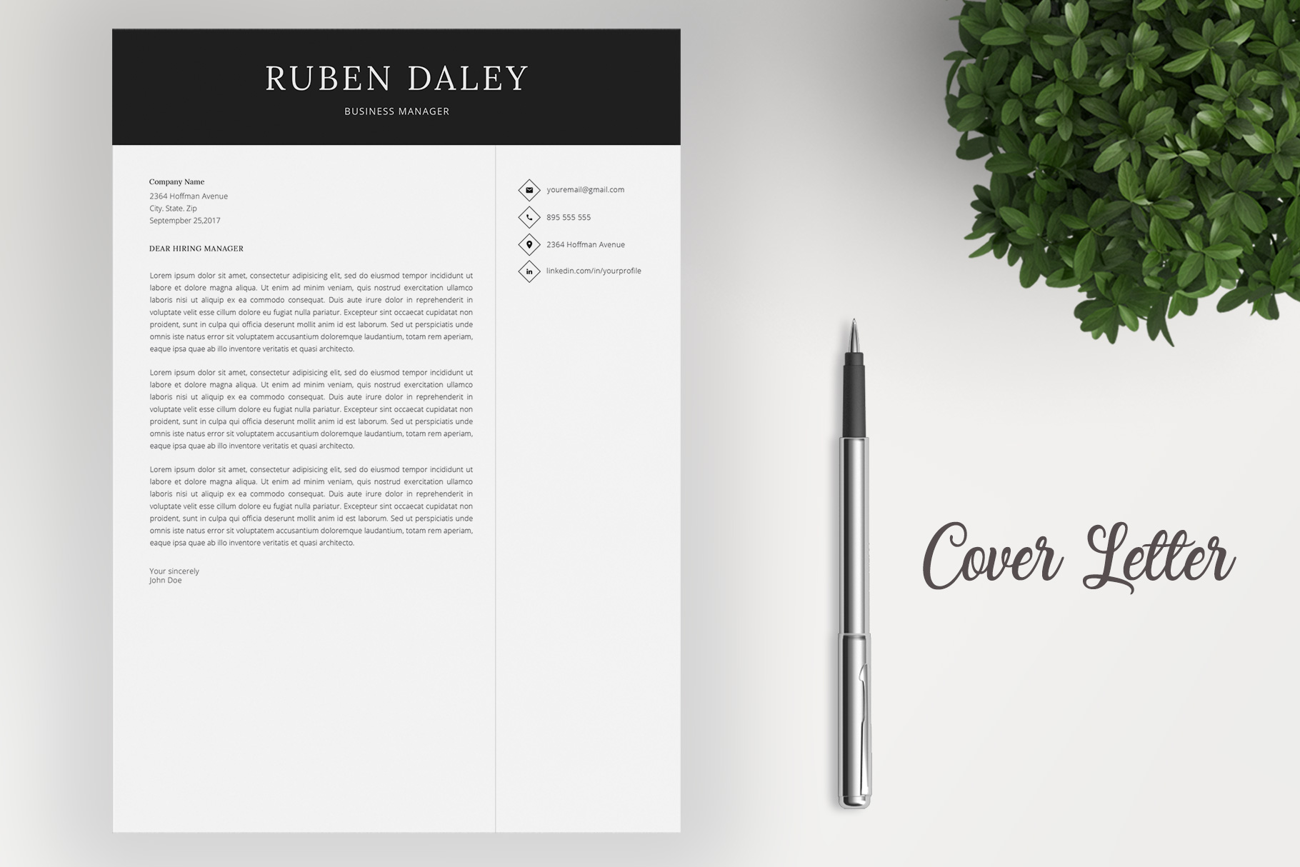 Resume Template and Cover Letter example image 4