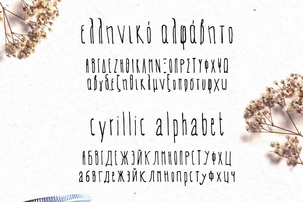 EVEY Handcrafted Multilingual Font | Latin / Greek / Cyrillic example image 4