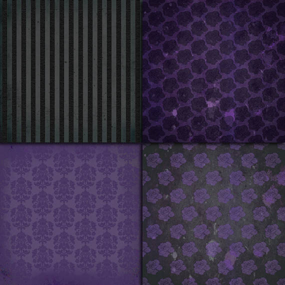 Grunge Purple Digital Paper example image 3