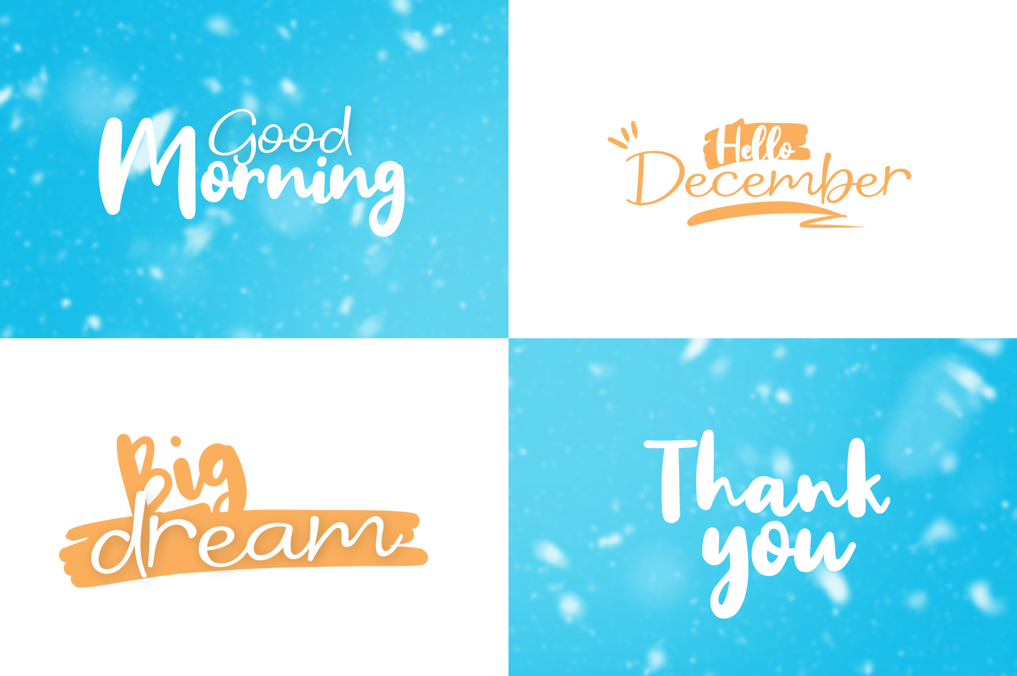 Winter Dream Trio Font example image 6