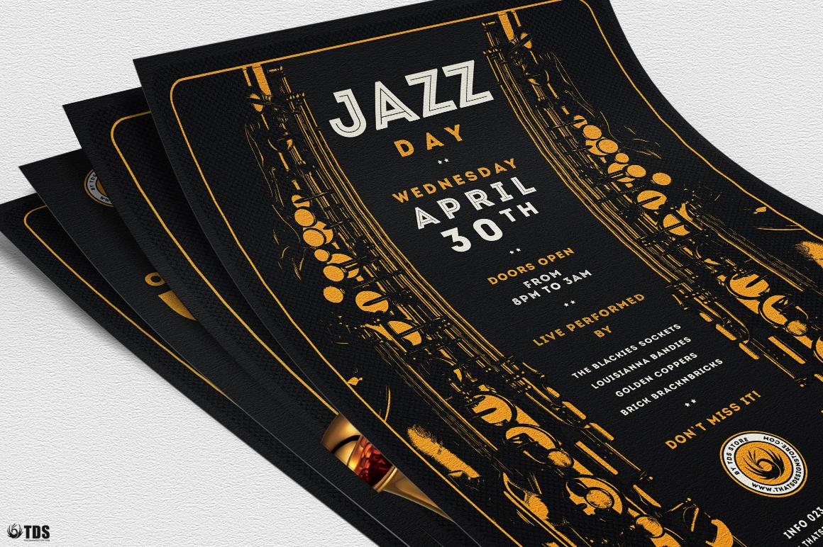 Jazz Day Flyer Bundle example image 5