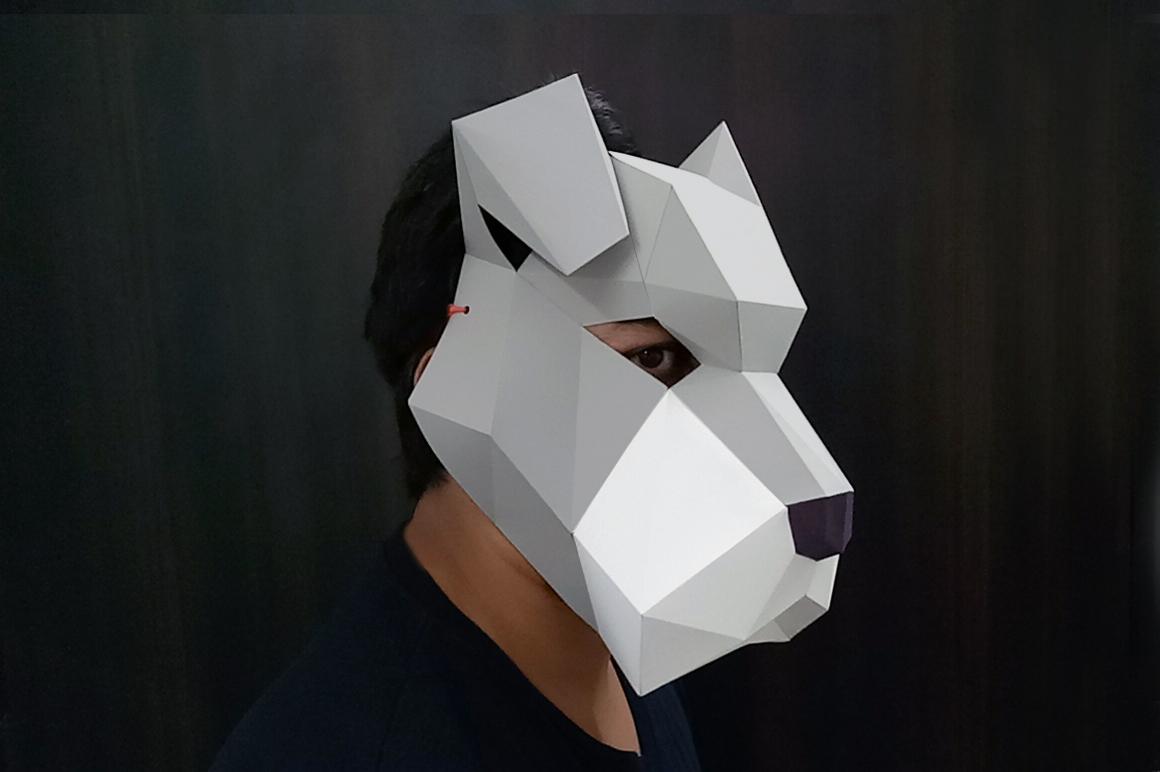 DIY Schnauzer Mask - 3d papercraft example image 6