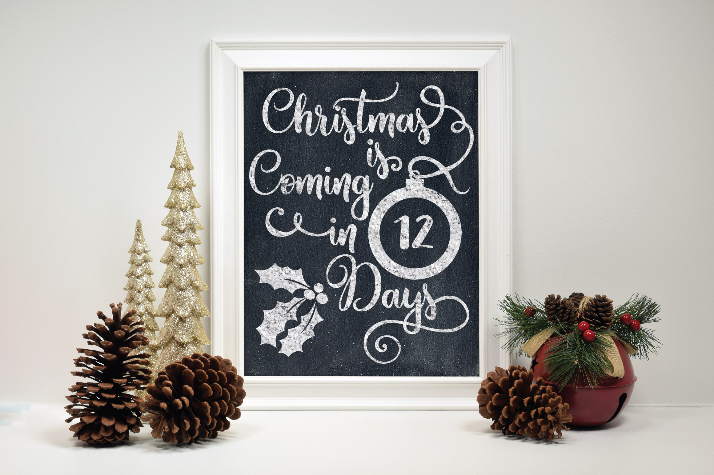 Christmas Countdown SVG Cut File - Christmas Ornament SVG example image 3