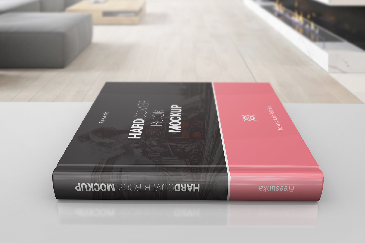 Square Hardcover Book Mockups example image 4