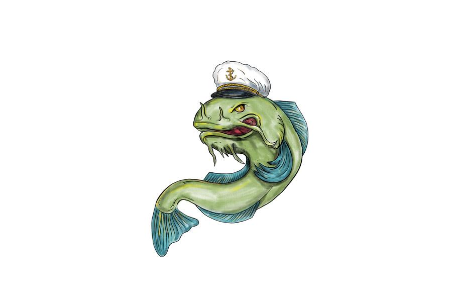 Captain Catfish Tattoo example image 1
