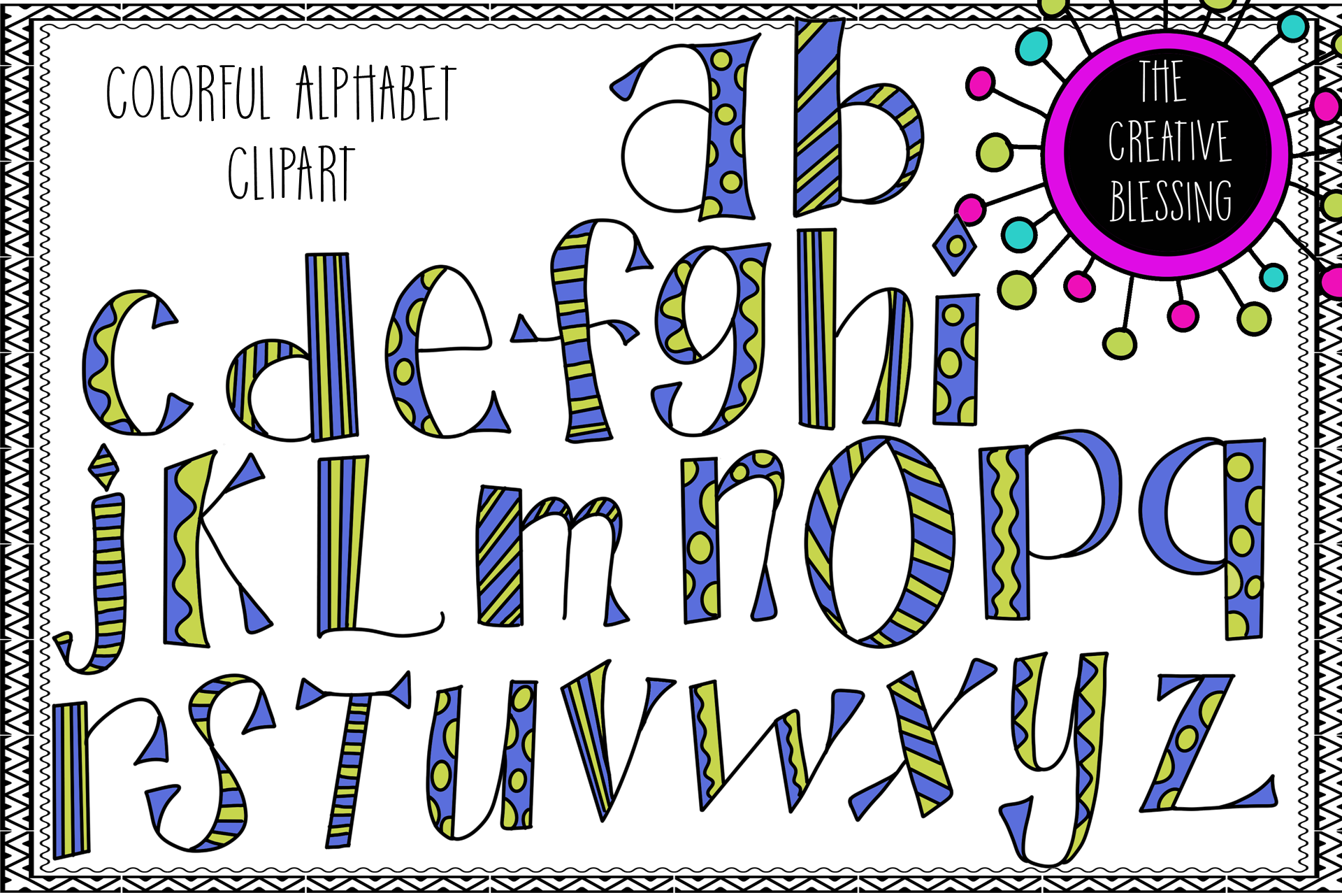 Colorful Letters Clipart example image 1