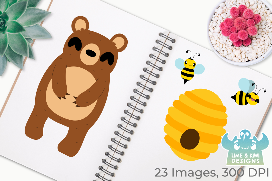 Bear Boys Clipart, Instant Download Vector Art example image 3
