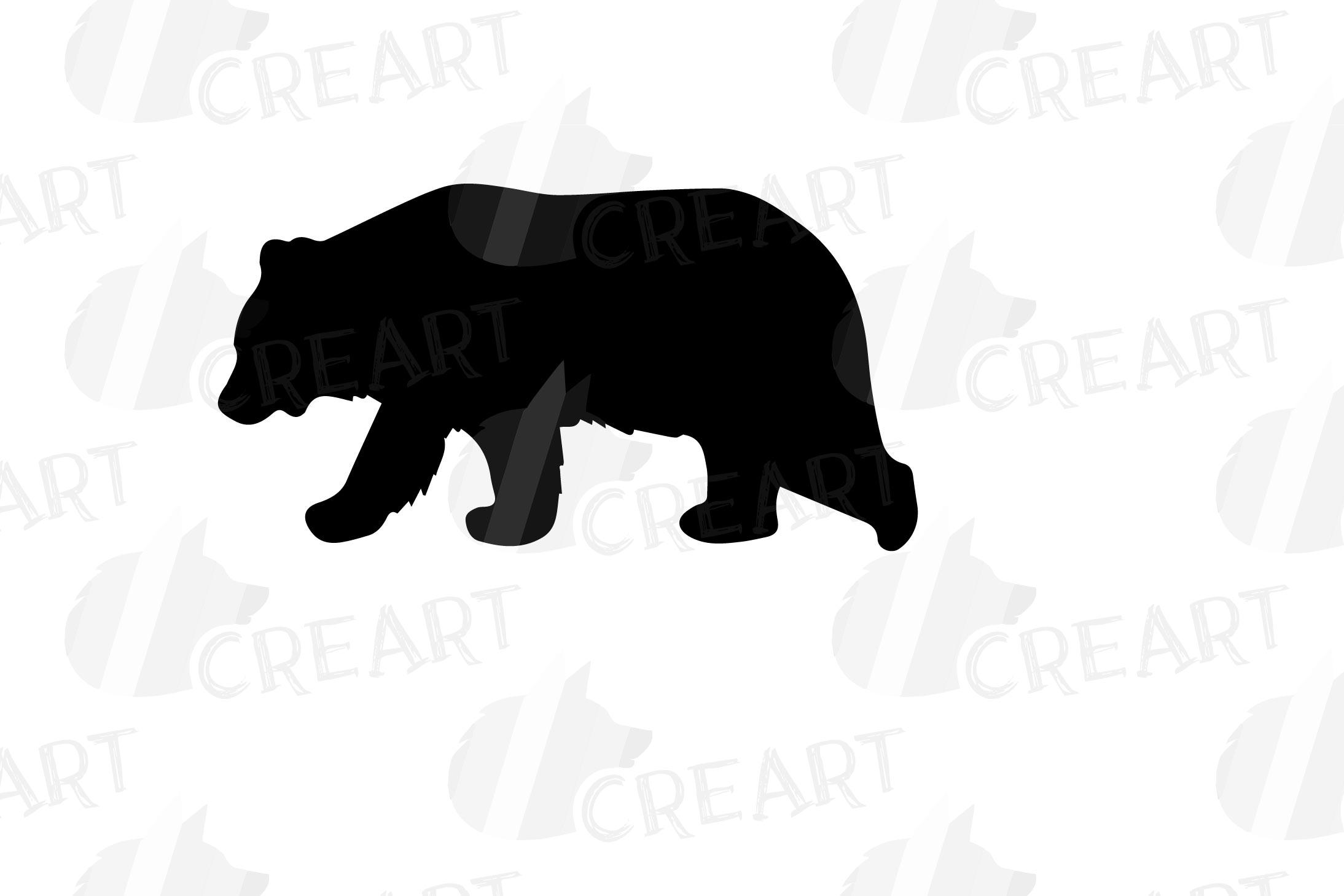 Baby and mama bear nursery clip art collection, bears print example image 14