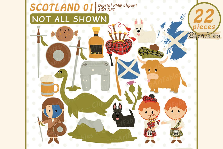 Scotland clipart, Scottish art, travel, instant download example image 1