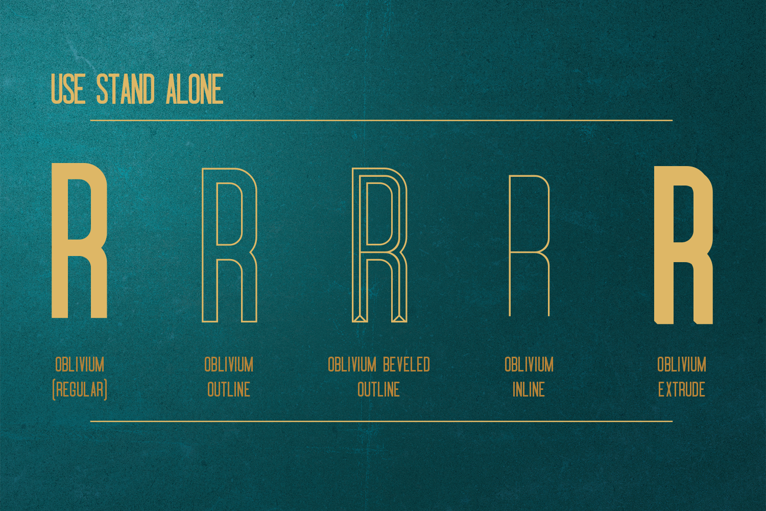 Oblivium Layered Font Family example image 2