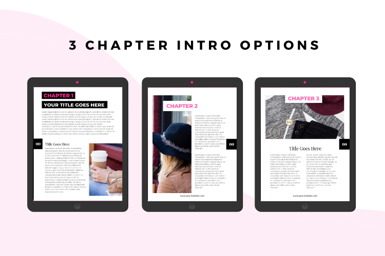 Hot Pink Fashion Canva template Ebook example image 4