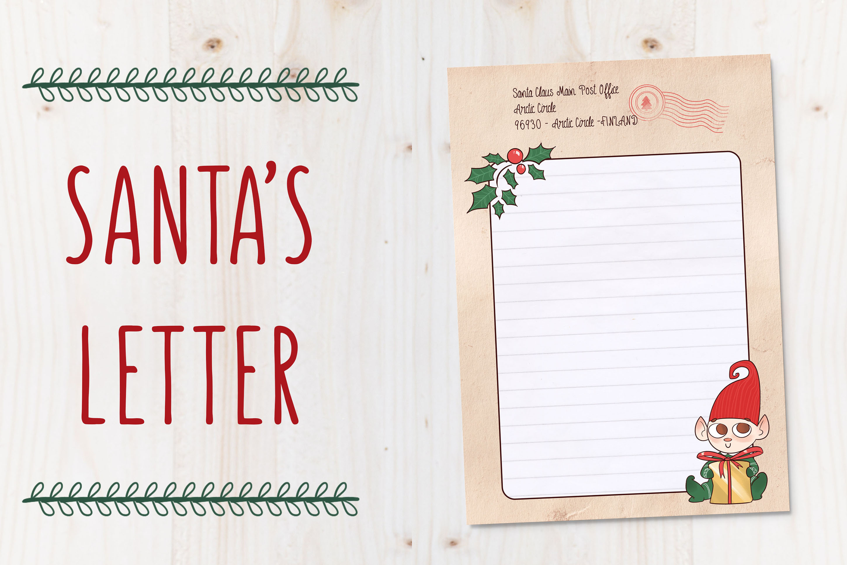 SANTA's LETTER TEMPLATE - Christmas letter by TdT example image 1