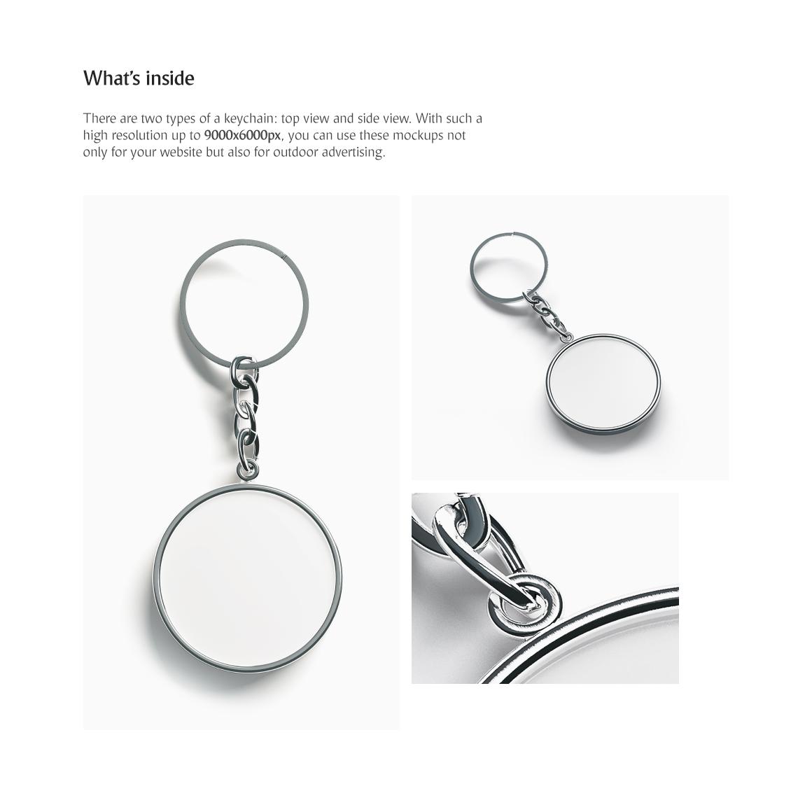 Round Keychain Mockup example image 2