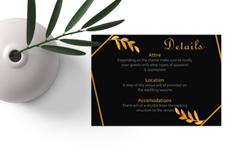 Elegant Golden Leaf Wedding Invitation Kit example image 6