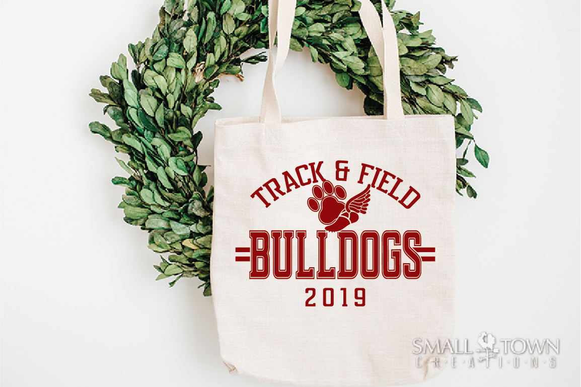 Bulldogs Track and Field, bulldog mascot, PRINT, CUT, DESIGN example image 4