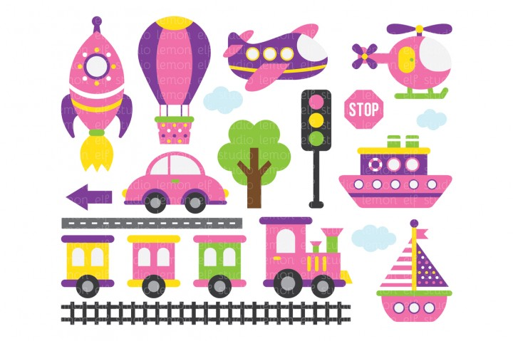 Transportation-Digital Clipart (LES.CL01B) example image 1