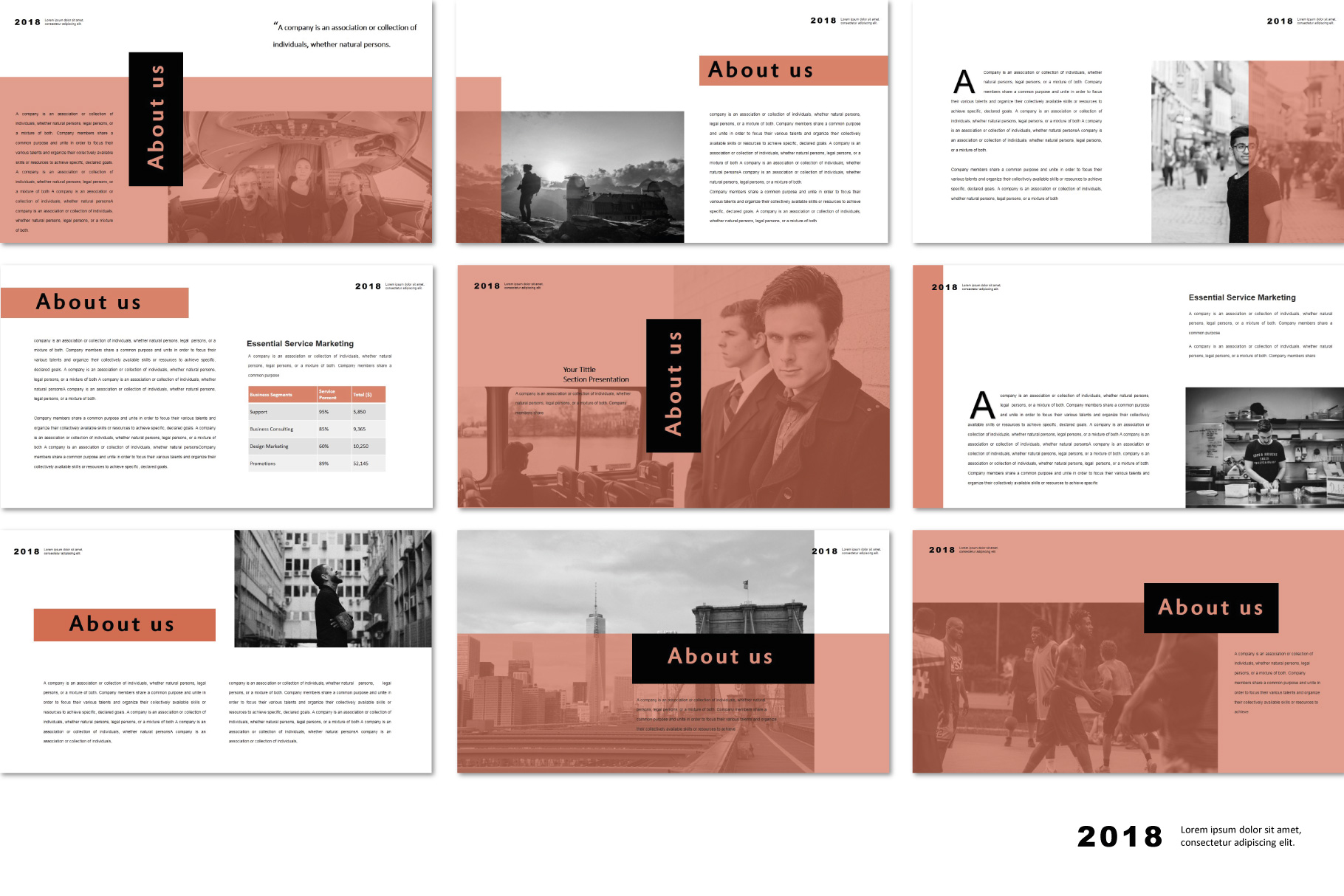 Conquer PowerPoint Templates example image 4