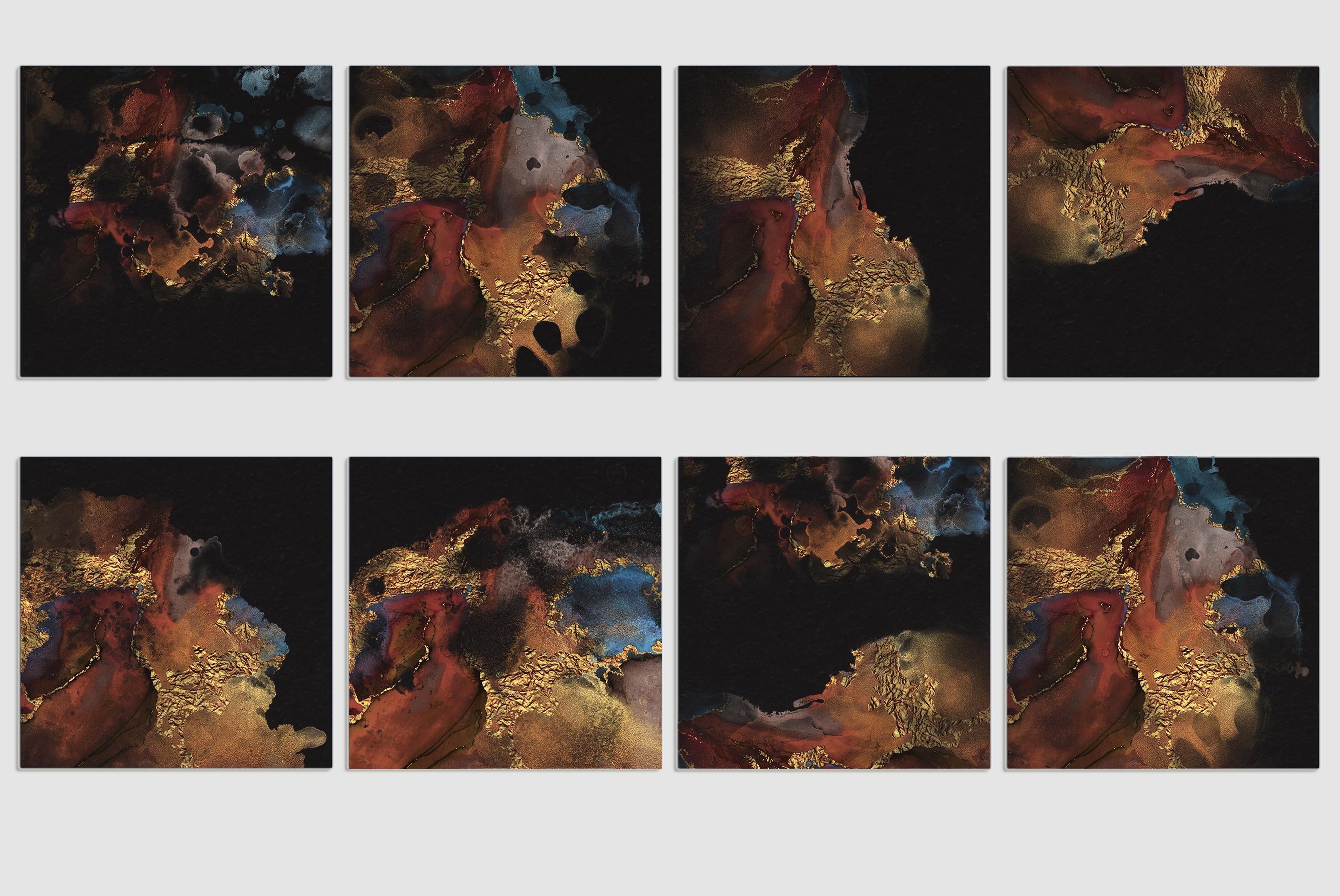 Watercolor PNG Gold Textures example image 6