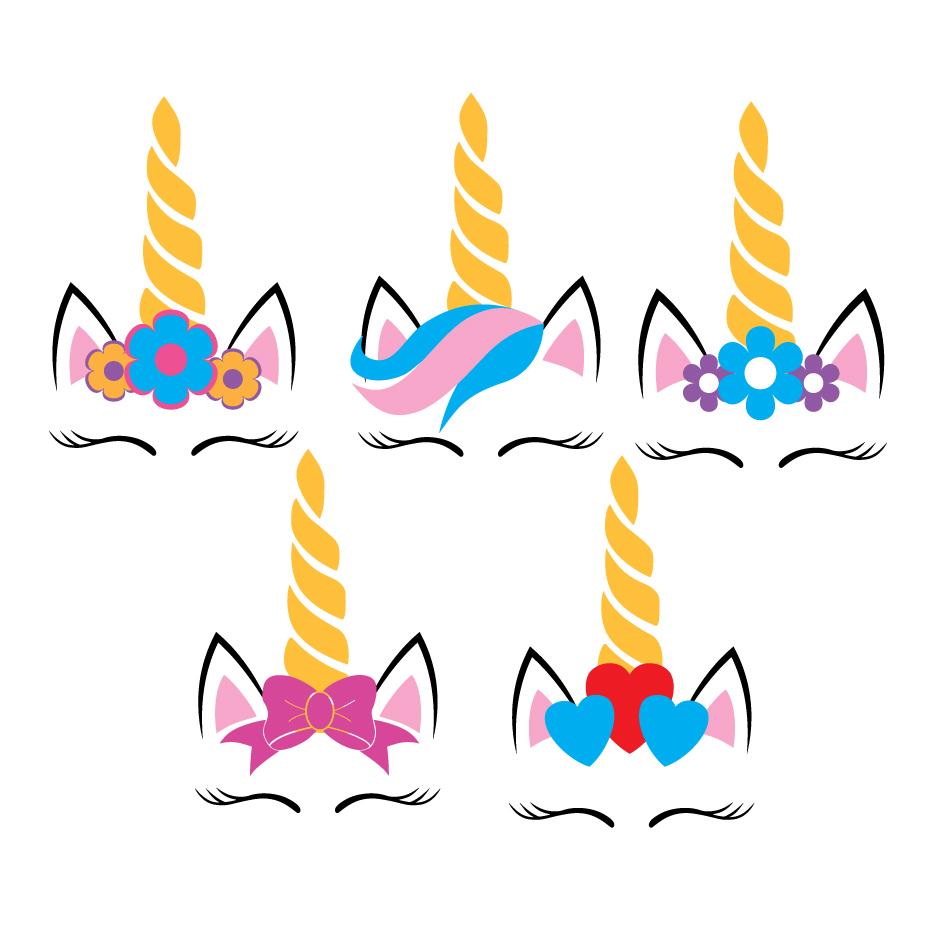 Five Unicorns SVG example image 1